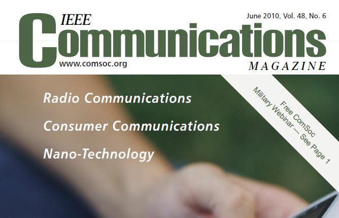 مجله IEEE Communications ژوئن ۲۰۱۰