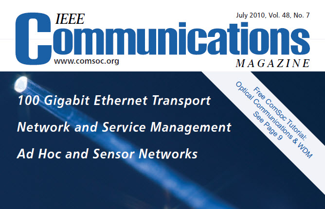 مجله IEEE Communications ژوئیه ۲۰۱۰