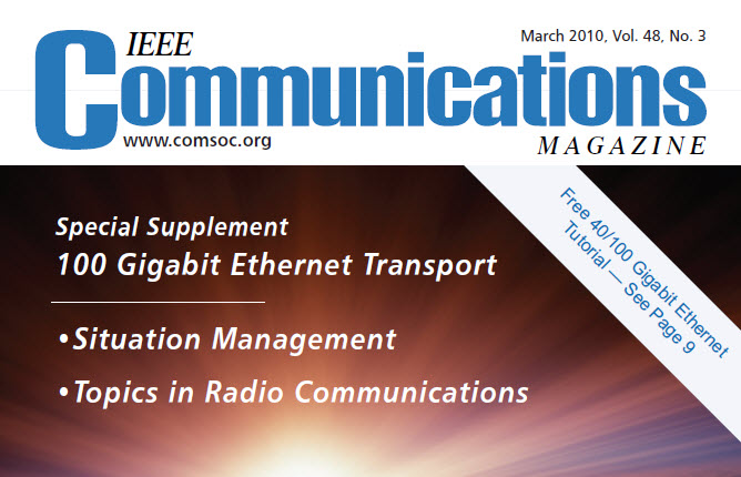 مجله IEEE Communications مارس ۲۰۱۰