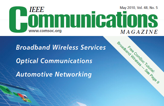 مجله IEEE Communications می ۲۰۱۰