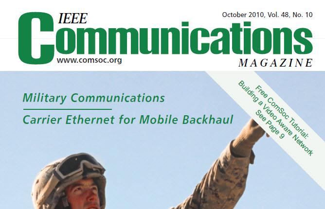 مجله IEEE Communications اکتبر ۲۰۱۰