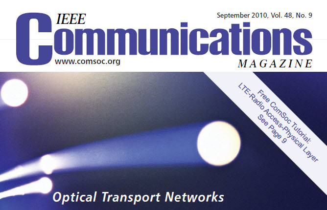 مجله IEEE Communications سپتامبر ۲۰۱۰